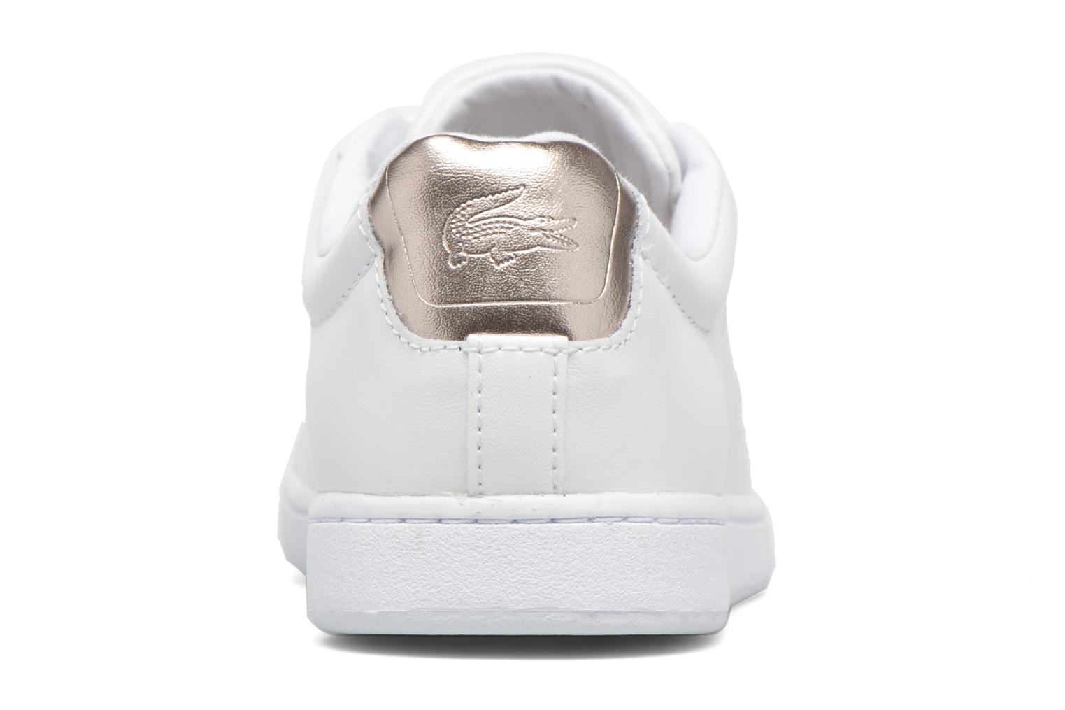 Trainers Lacoste Carnaby Evo 316 1 White view from the right