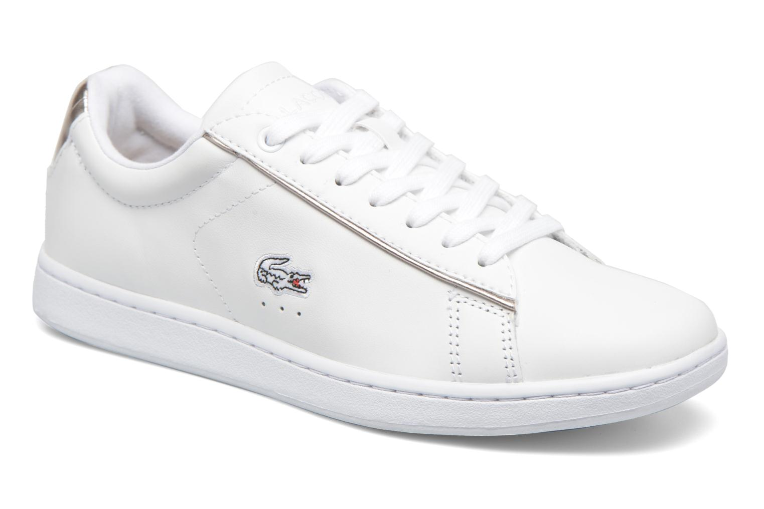 Trainers Lacoste Carnaby Evo 316 1 White detailed view/ Pair view