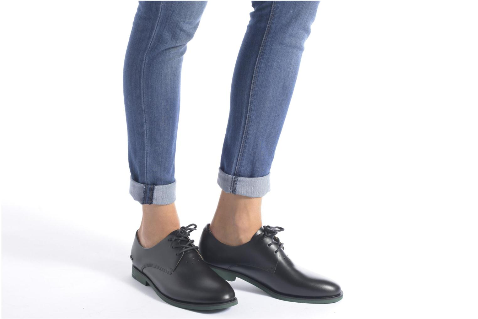 Lace-up shoes Lacoste Cambrai 316 2 Black view from underneath / model view