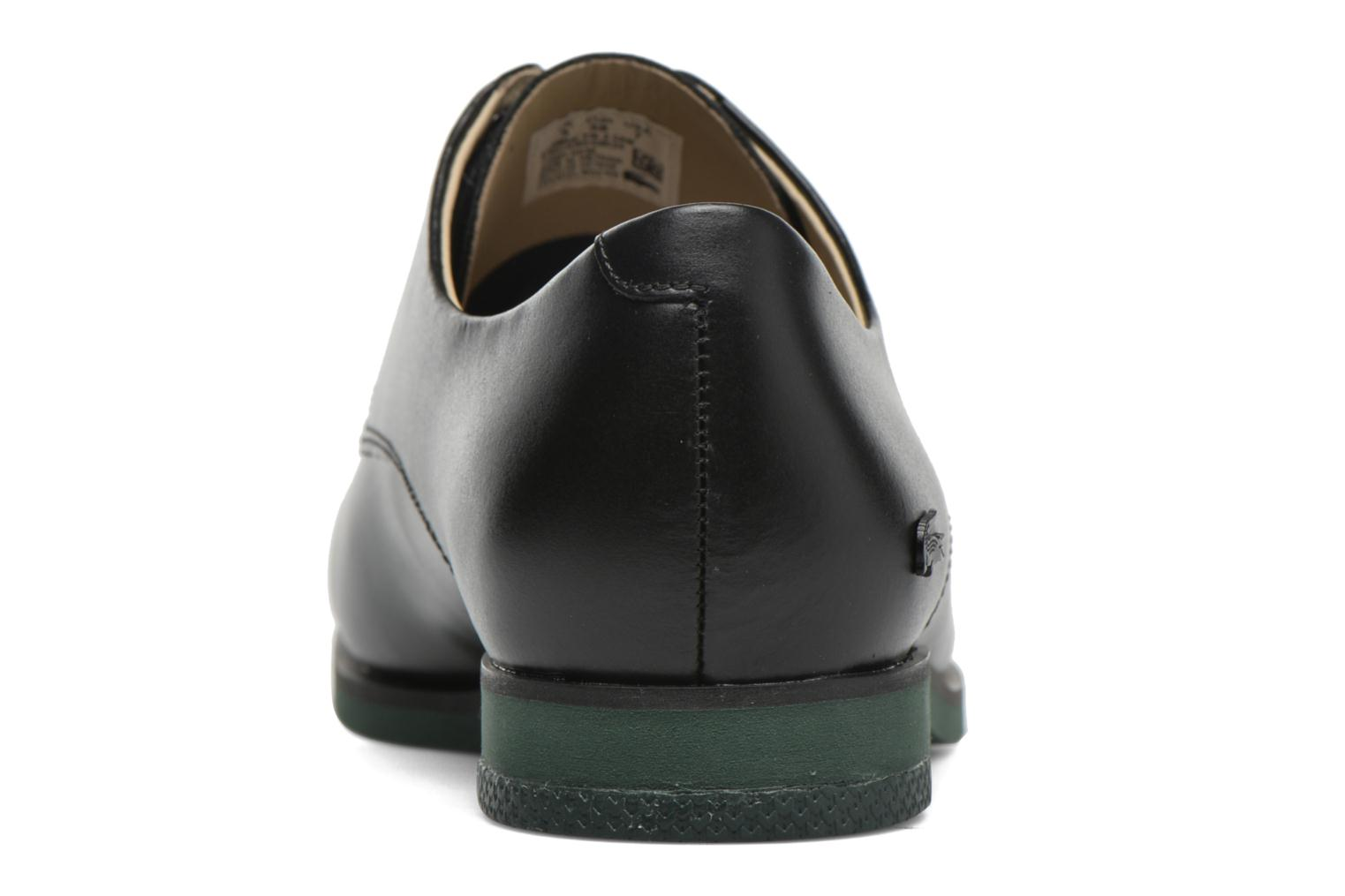 Lace-up shoes Lacoste Cambrai 316 2 Black view from the right
