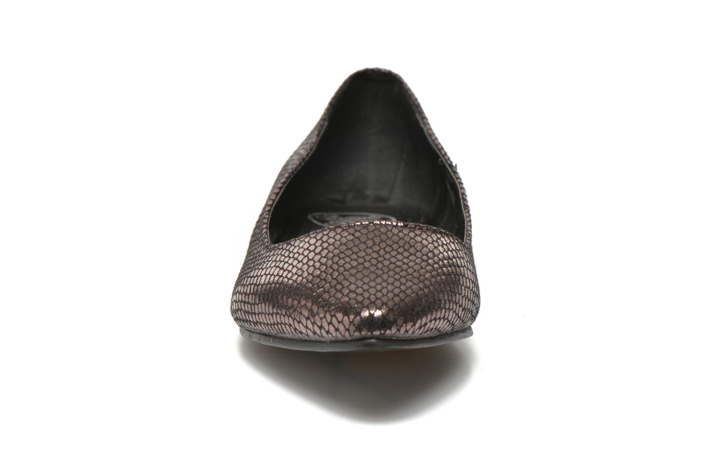 Ballerines Initiale Paris Tweet Or et bronze vue portées chaussures