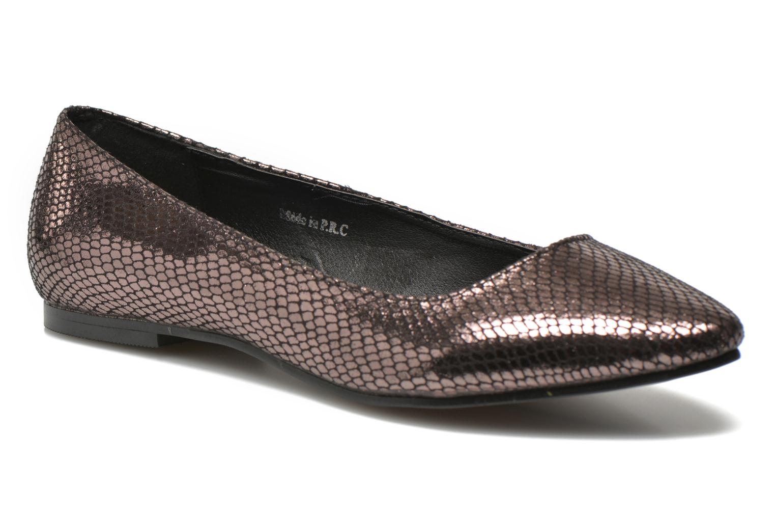 Ballet pumps Initiale Paris Tweet Bronze and Gold detailed view/ Pair view