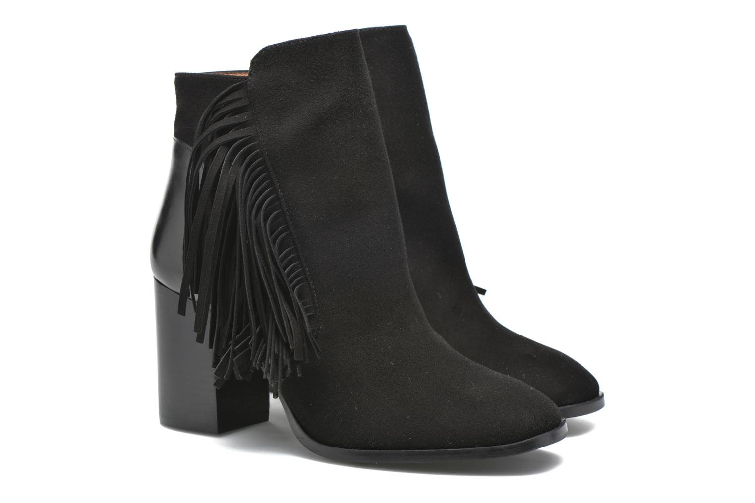 Ankle boots Made by SARENZA See Ya Topanga #8 Black back view