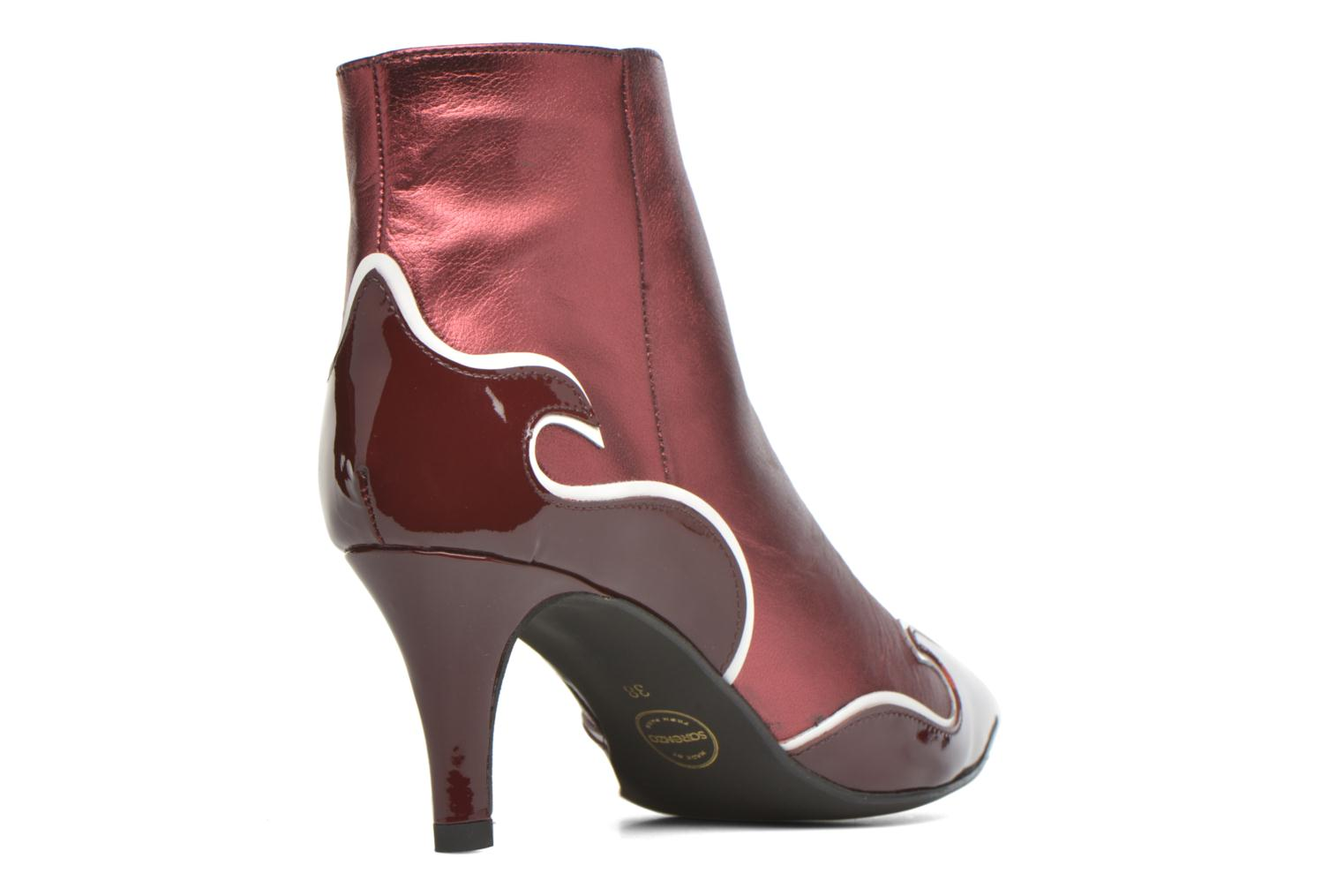 Ankle boots Made by SARENZA Glamatomic #4 Burgundy front view