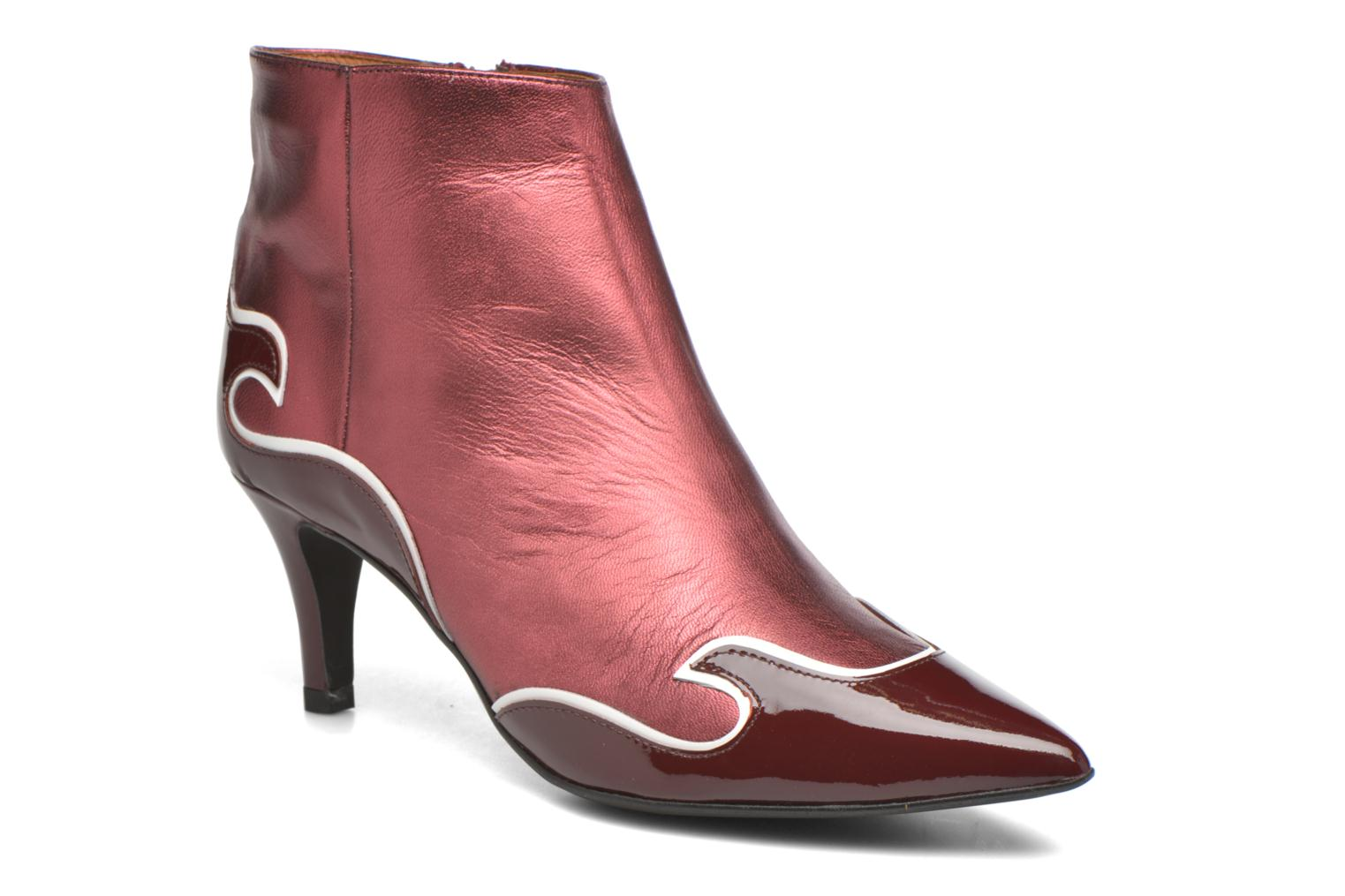 Ankle boots Made by SARENZA Glamatomic #4 Burgundy view from the right