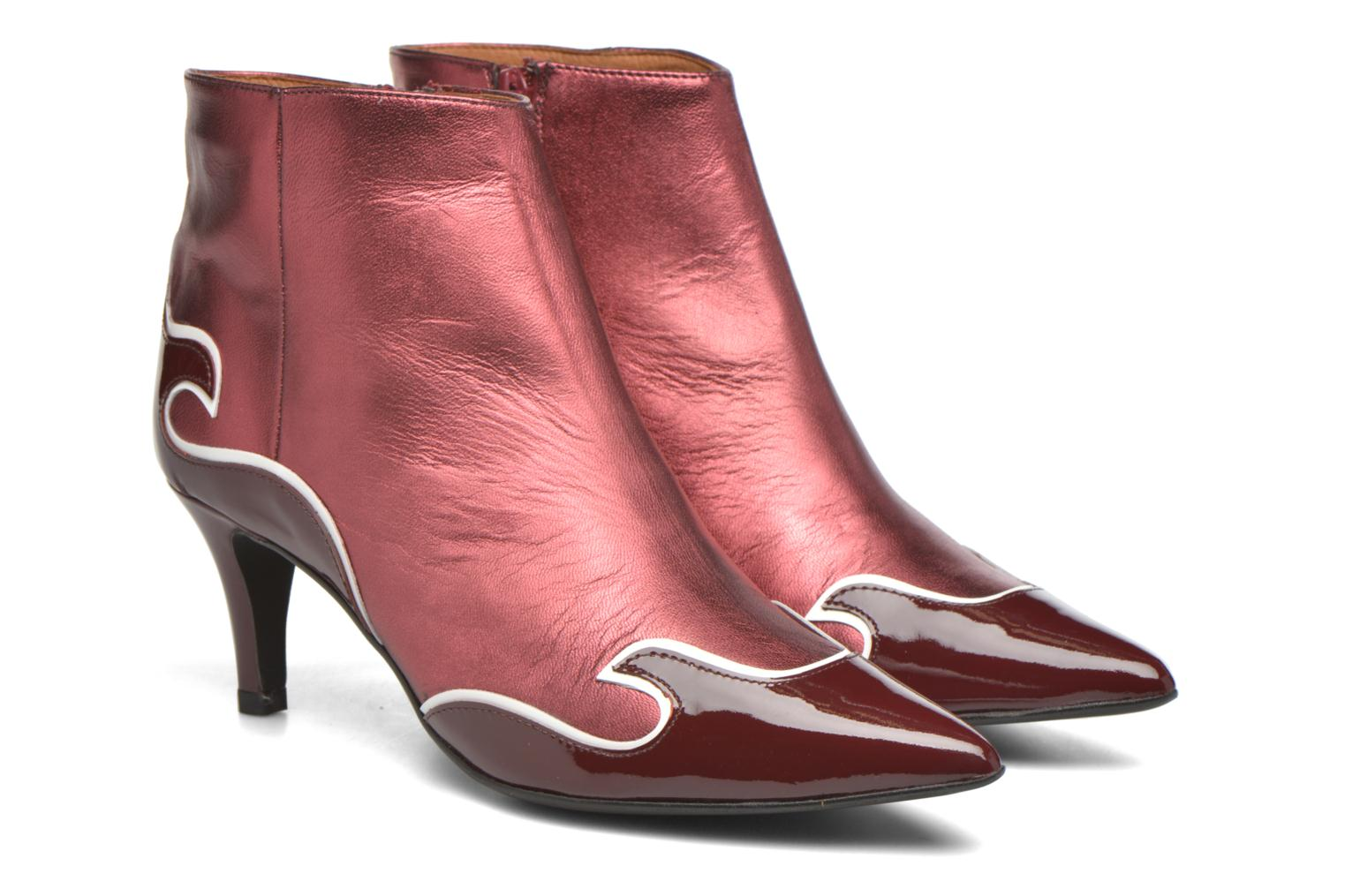 Ankle boots Made by SARENZA Glamatomic #4 Burgundy back view