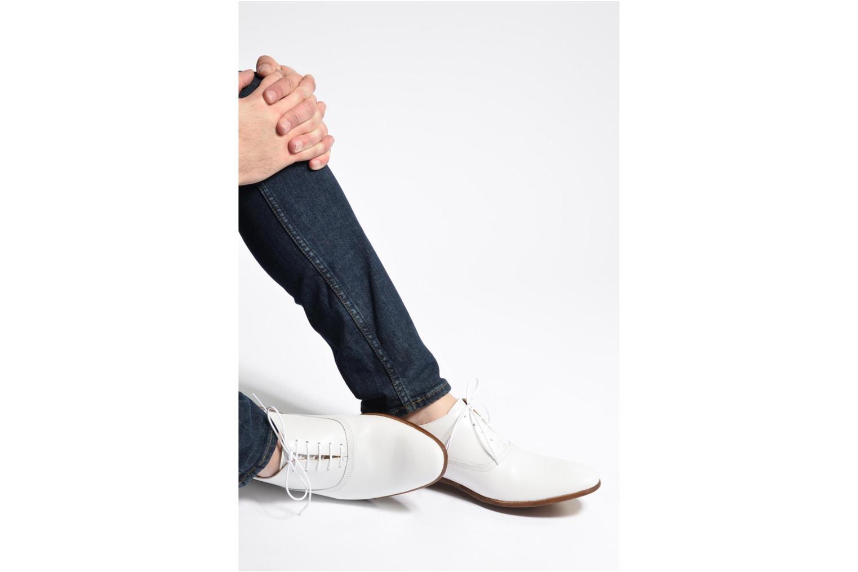 Chaussures à lacets Marvin&Co Newry Noir vue bas / vue portée sac