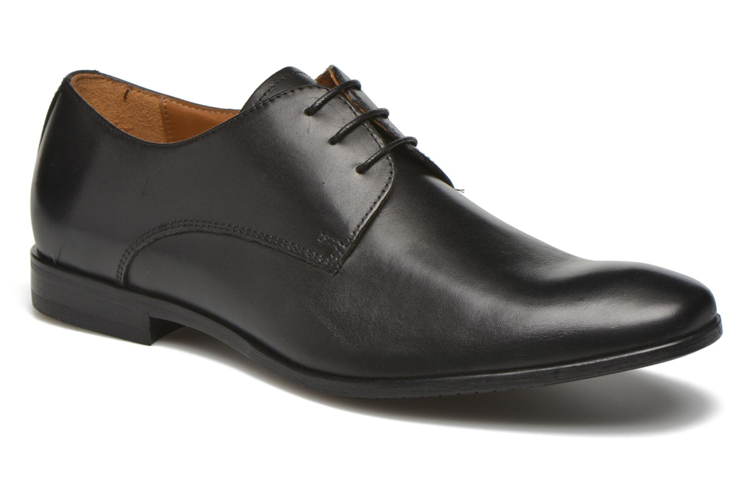 Veterschoenen Marvin&Co Nailsworth Zwart detail
