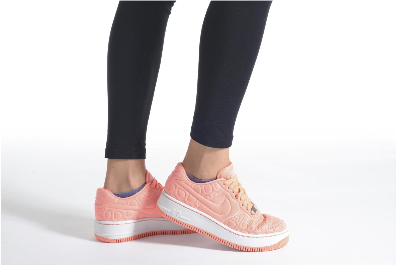 Baskets Nike Nike W Af1 Upstep Se Jaune vue bas / vue portée sac