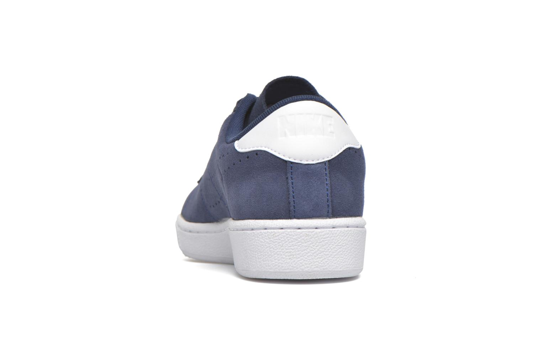 Baskets Nike Tennis Classic Cs Suede Bleu vue droite