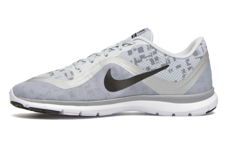 W Nike Flex Trainer 6 Print Pr Pltnm/Blk-Mtlc Slvr-Wlf Gry