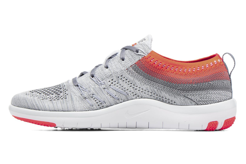 Chaussures de sport Nike W Nike Free Tr Focus Flyknit Gris vue face