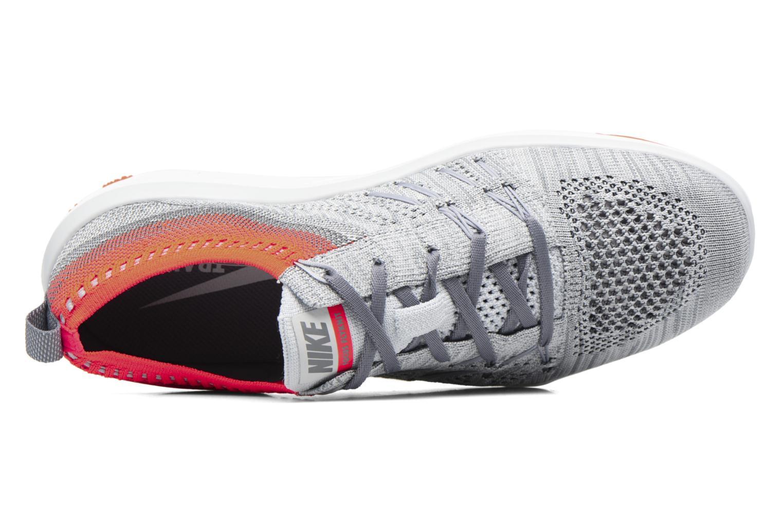 W Nike Free Tr Focus Flyknit Pure Platinum/Total Crimson-Cool Grey