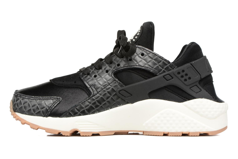 Sneaker Nike Wmns Air Huarache Run Prm schwarz ansicht von vorne