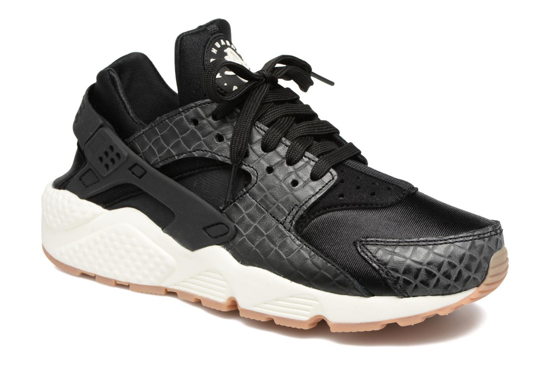 Sneaker Nike Wmns Air Huarache Run Prm schwarz detaillierte ansicht/modell
