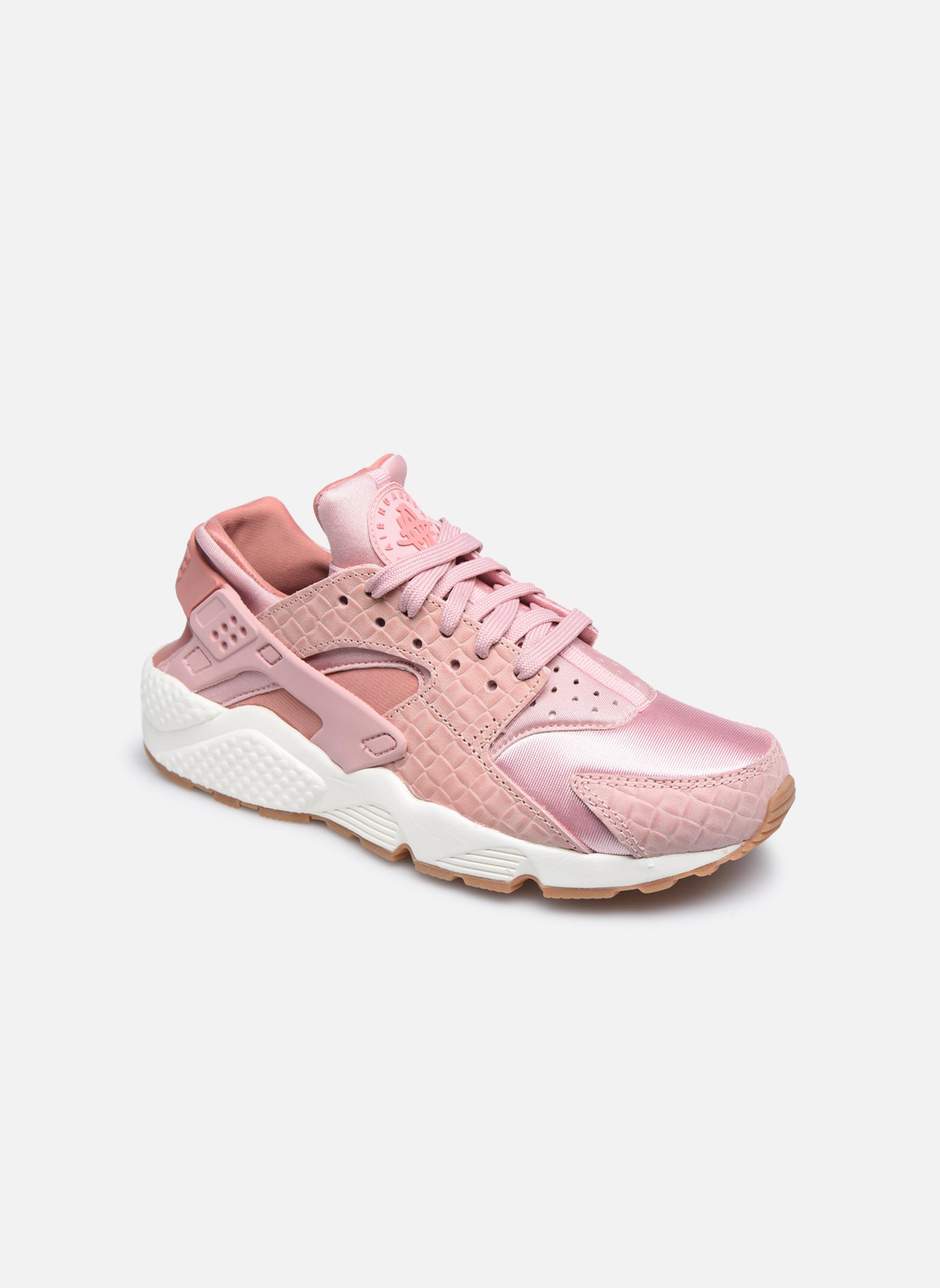 Wmns Air Huarache Run Prm Pink Glaze/Pearl Pink-Sail-Gum Med Brown