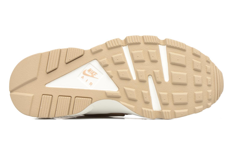 Baskets Nike Wmns Air Huarache Run Prm Beige vue haut