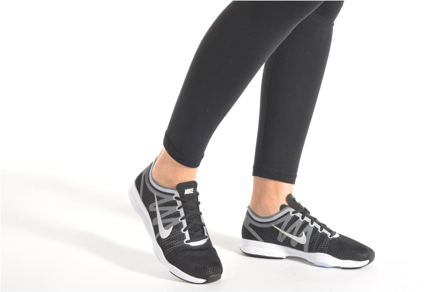 Sport shoes Nike Wmns Nike Air Zoom Fit 2 Black view from underneath / model view