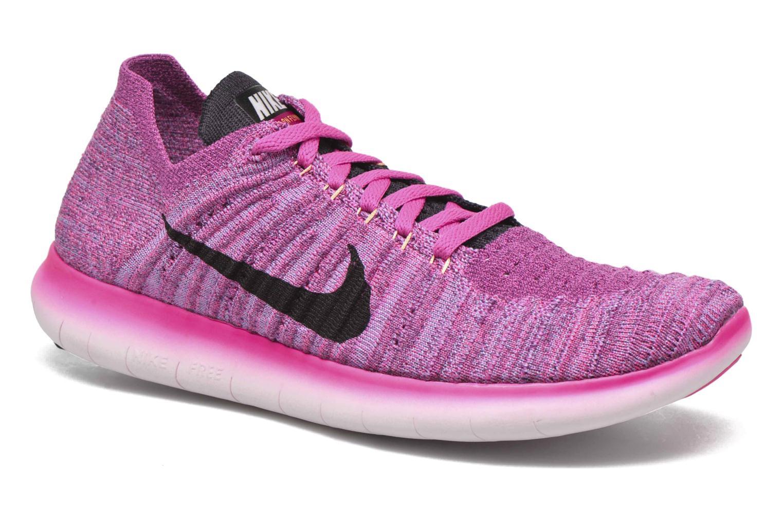 Chaussures de sport Nike Wmns Nike Free Rn Flyknit Rose vue détail/paire