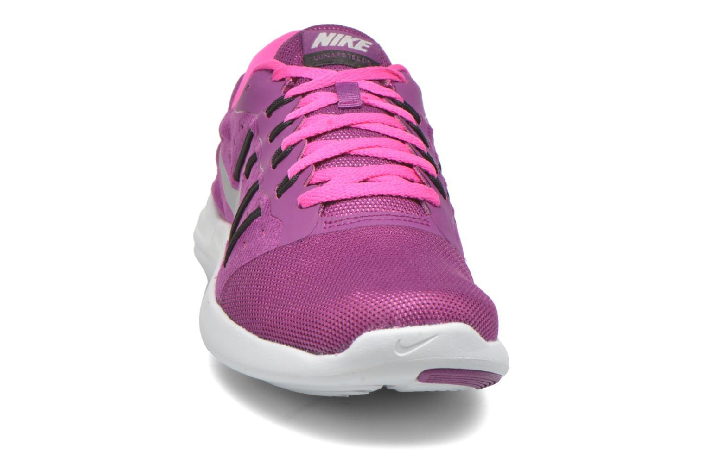 Chaussures de sport Nike Wmns Nike Lunarstelos Violet vue portées chaussures
