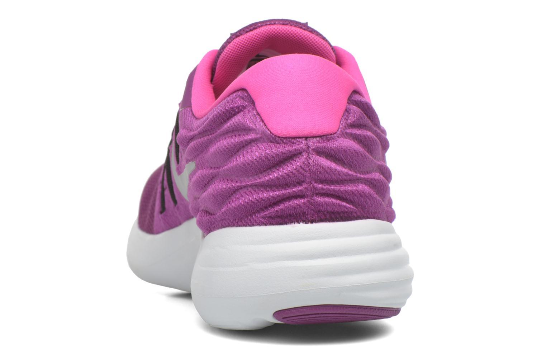 Wmns Nike Lunarstelos Bright Grape/Metallic Silver-Fire Pink