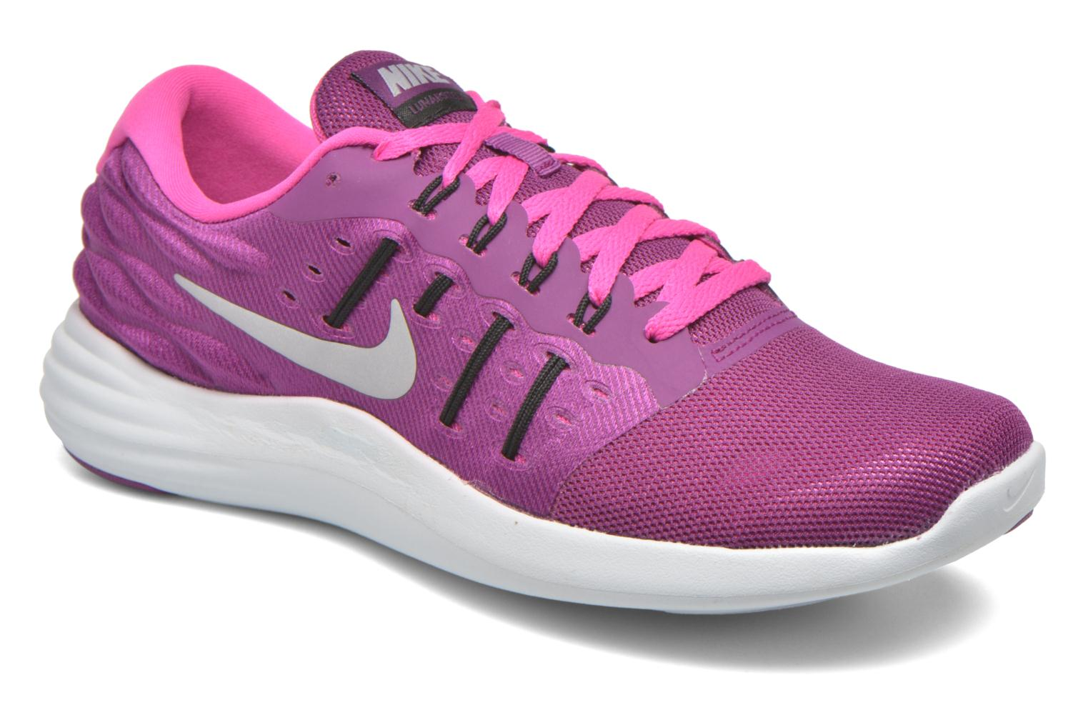 Wmns Nike Lunarstelos Bright Grape/Metallic Silver-Fire Pink