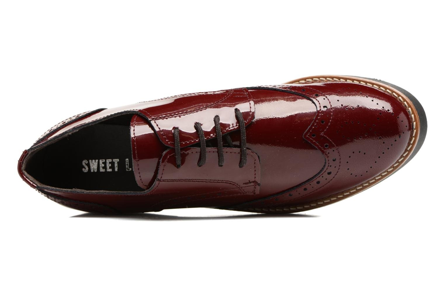 Lace-up shoes Sweet Lemon L.27.Naboli Burgundy view from the left