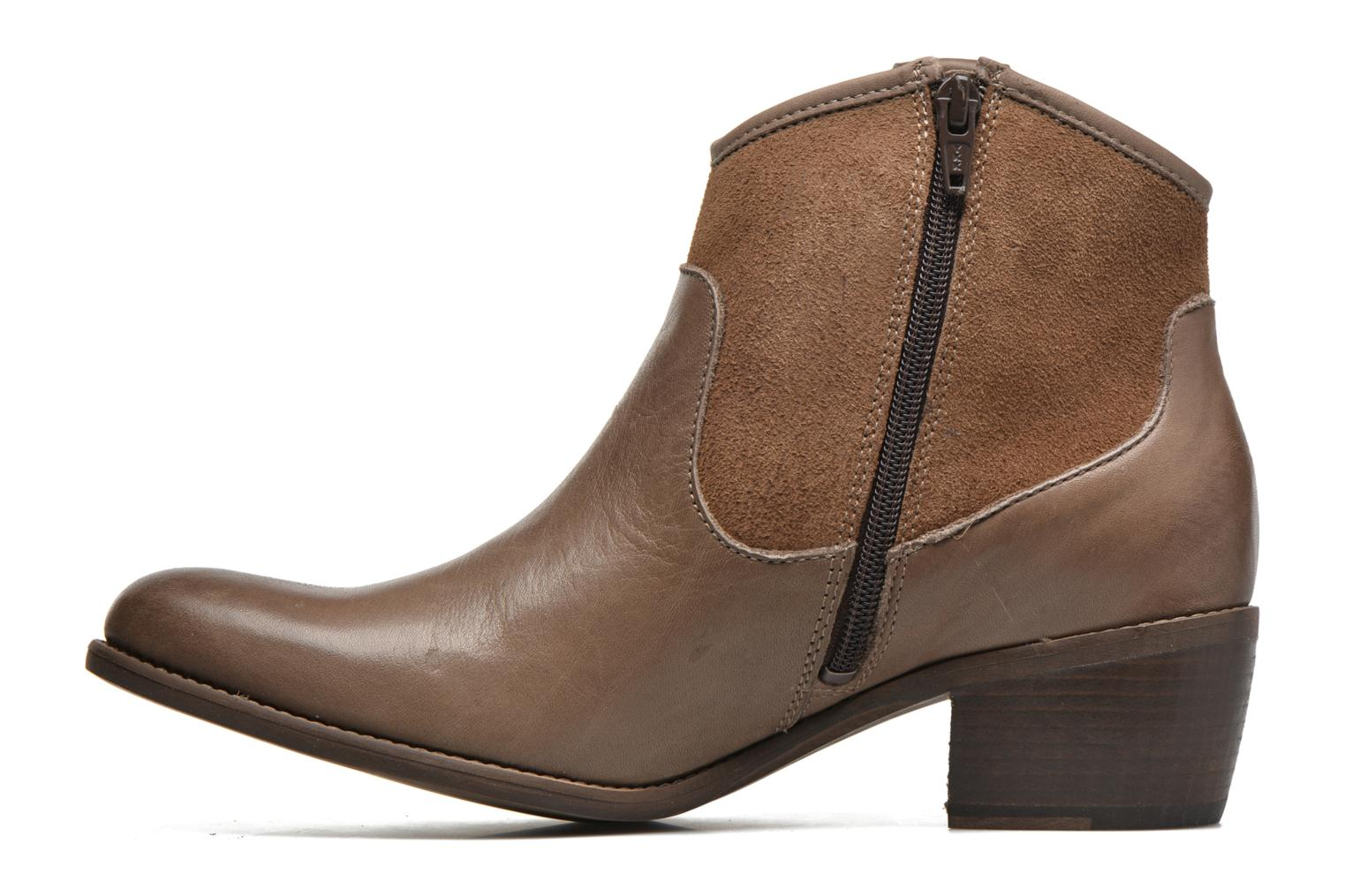 Ankle boots Georgia Rose Garok Brown front view