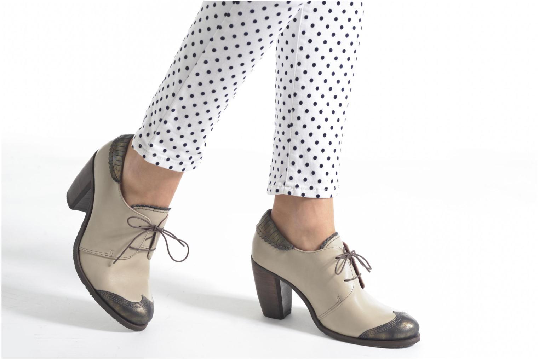 Chaussures à lacets Dkode Trixy Gris vue bas / vue portée sac