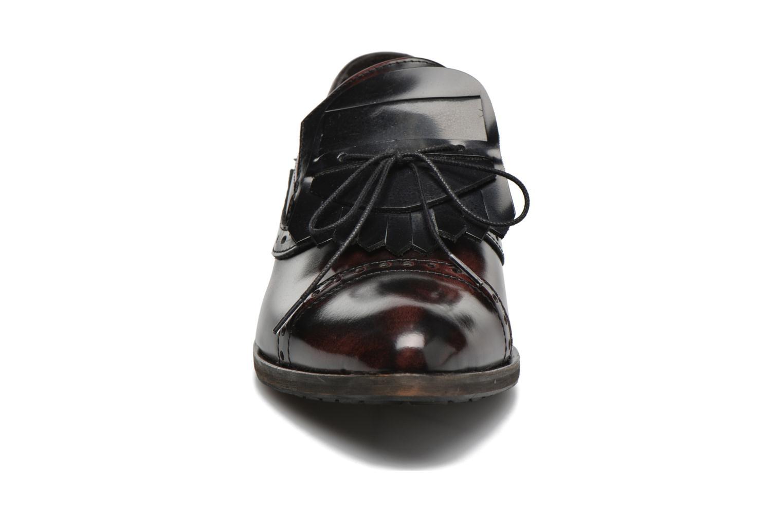 Mocassins Dkode Sirian Rouge vue portées chaussures