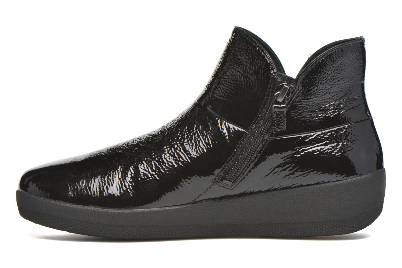 Bottines et boots FitFlop Supermod Leather Ankle Boots Noir vue face
