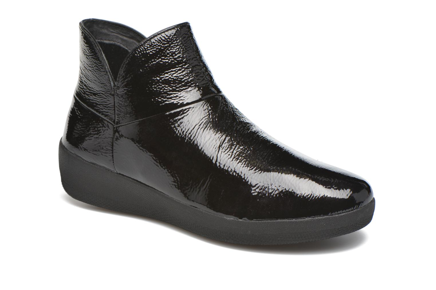 Supermod Leather Ankle Boots Black Patent
