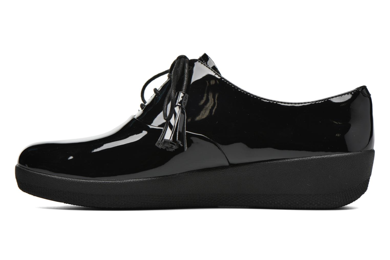 Lace-up shoes FitFlop Classic Tassel Superoxford Black front view