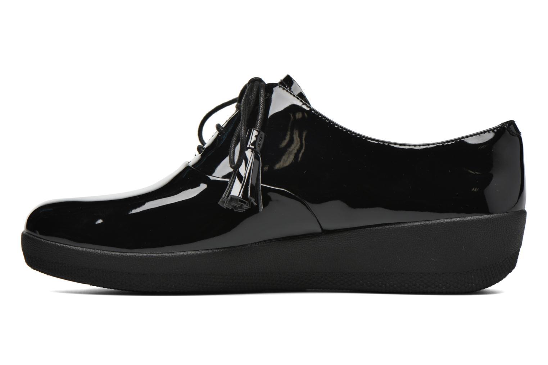 Chaussures à lacets FitFlop Classic Tassel Superoxford Noir vue face