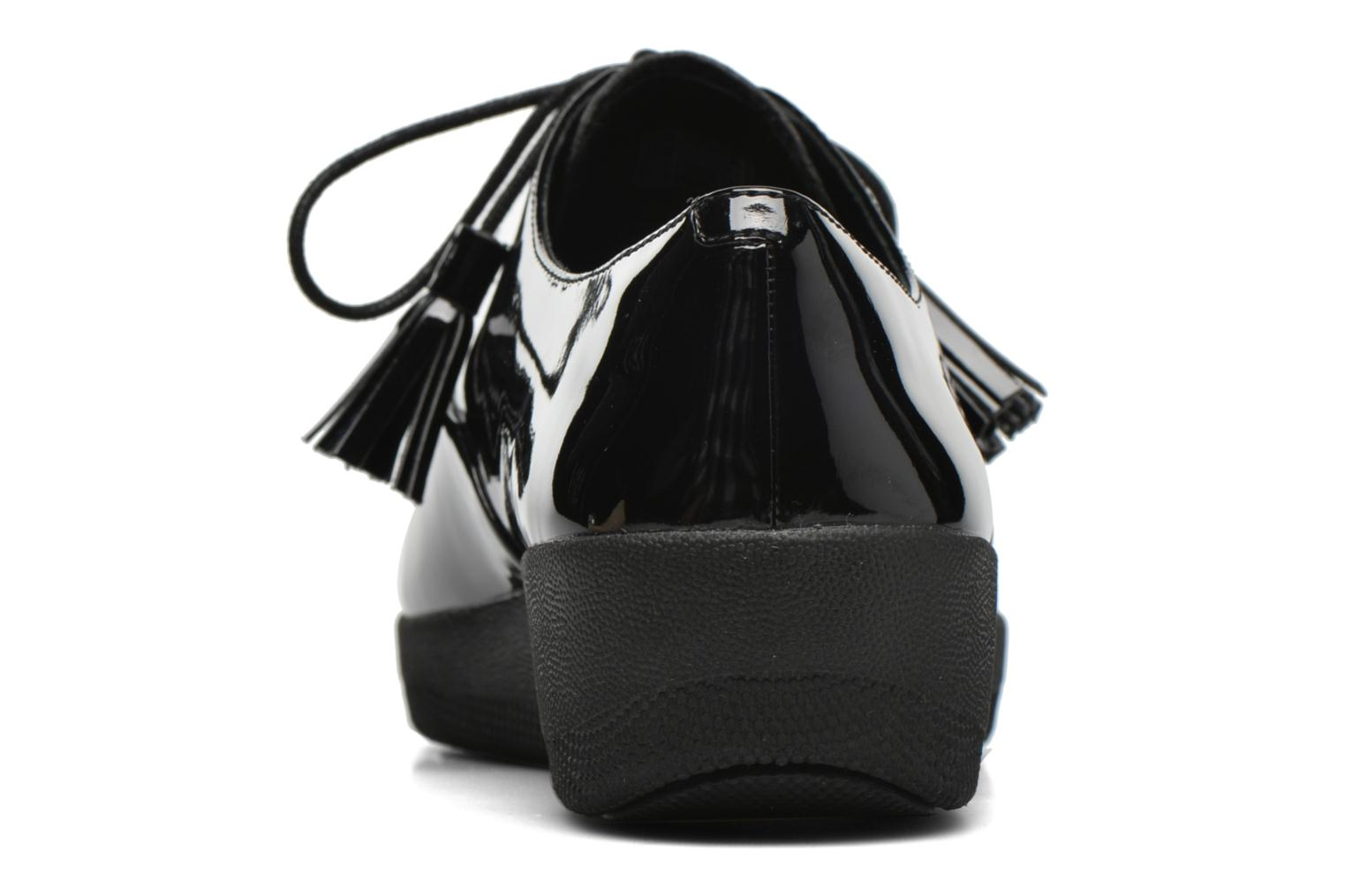Lace-up shoes FitFlop Classic Tassel Superoxford Black view from the right