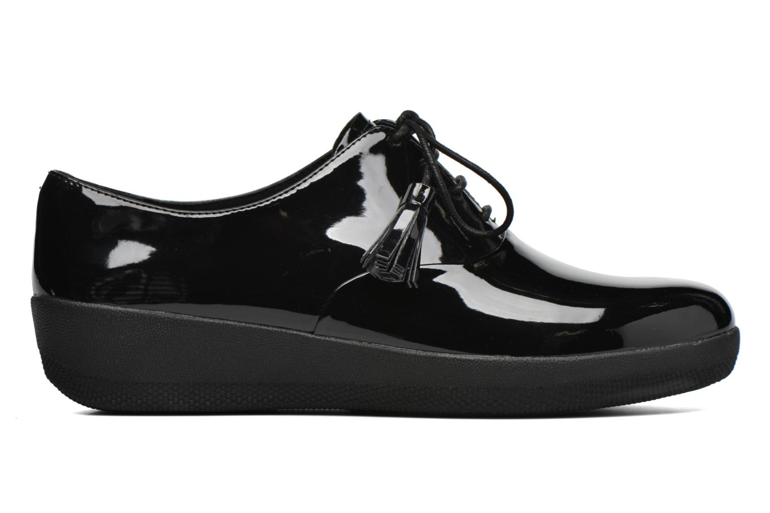 Lace-up shoes FitFlop Classic Tassel Superoxford Black back view