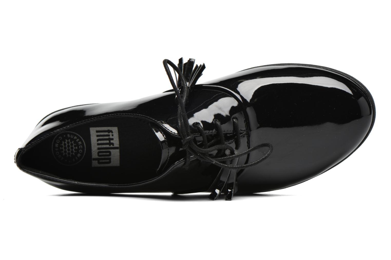 Schnürschuhe FitFlop Classic Tassel Superoxford schwarz ansicht von links