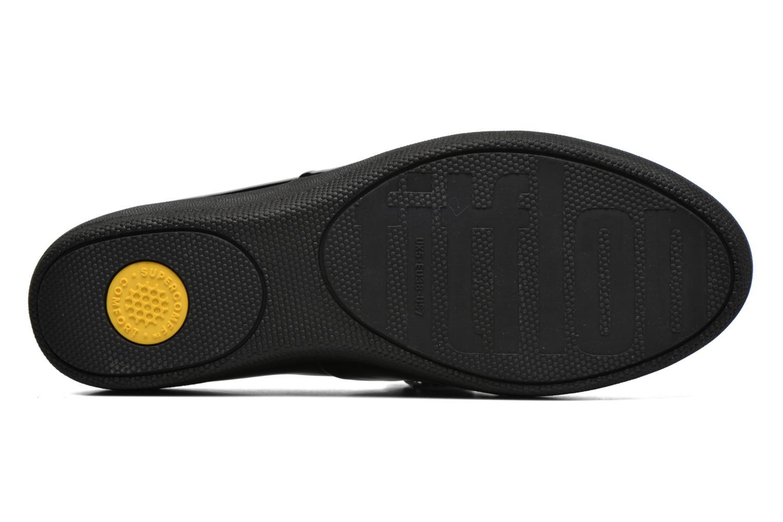 Chaussures à lacets FitFlop Classic Tassel Superoxford Noir vue haut