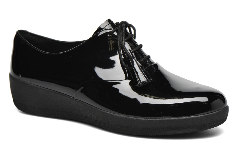 Chaussures à lacets FitFlop Classic Tassel Superoxford Noir vue détail/paire