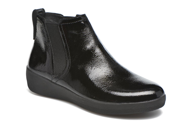 Marques Chaussure femme FitFlop femme Superchelsea Boot Black Patent