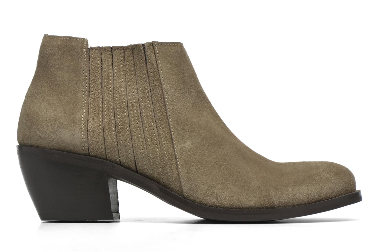 Ankle boots Georgia Rose Matiag Beige back view