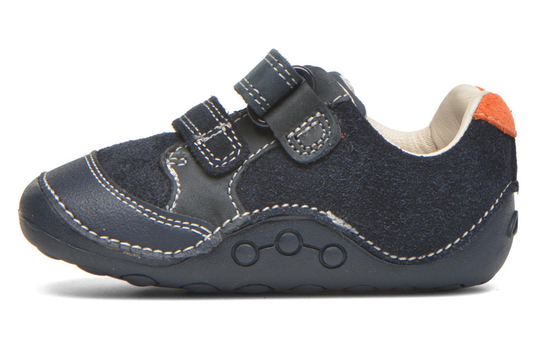 Chaussures à scratch Clarks Tiny Tom Bleu vue face