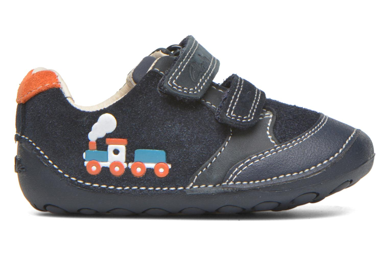 Chaussures à scratch Clarks Tiny Tom Bleu vue derrière