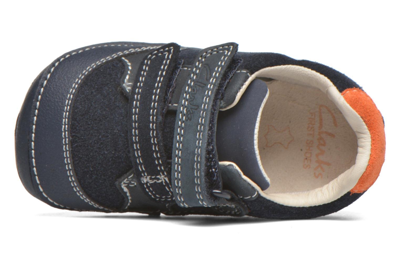 Chaussures à scratch Clarks Tiny Tom Bleu vue gauche