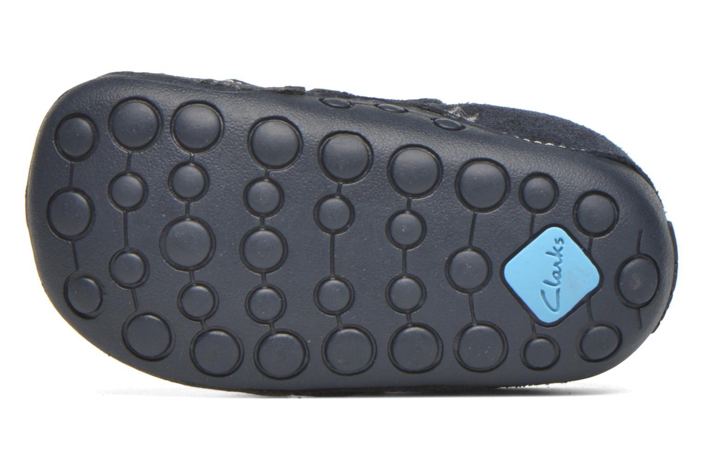 Chaussures à scratch Clarks Tiny Tom Bleu vue haut