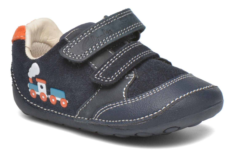 Chaussures à scratch Clarks Tiny Tom Bleu vue détail/paire