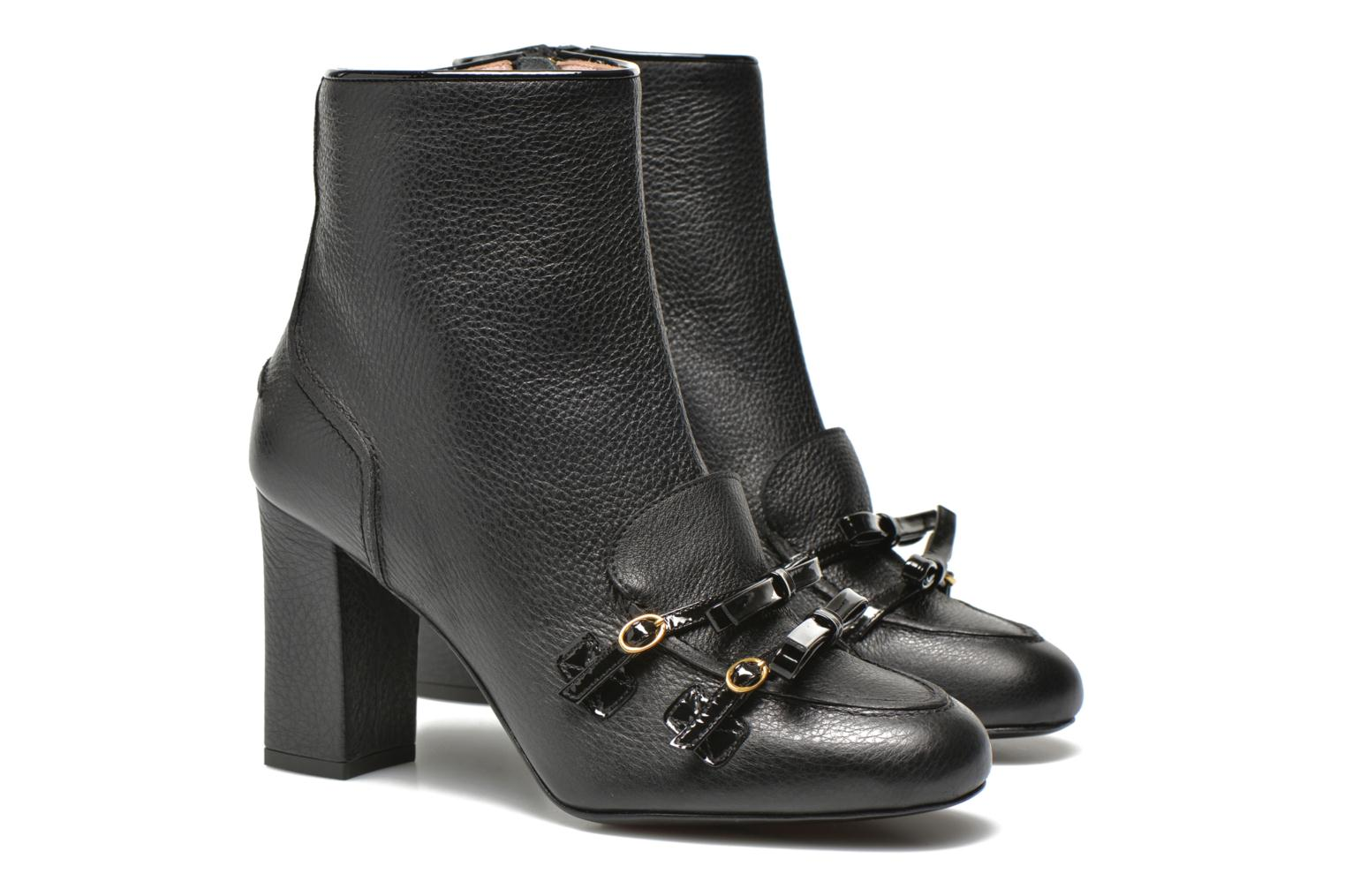 Ankle boots Boutique Moschino Bot-bot Black 3/4 view