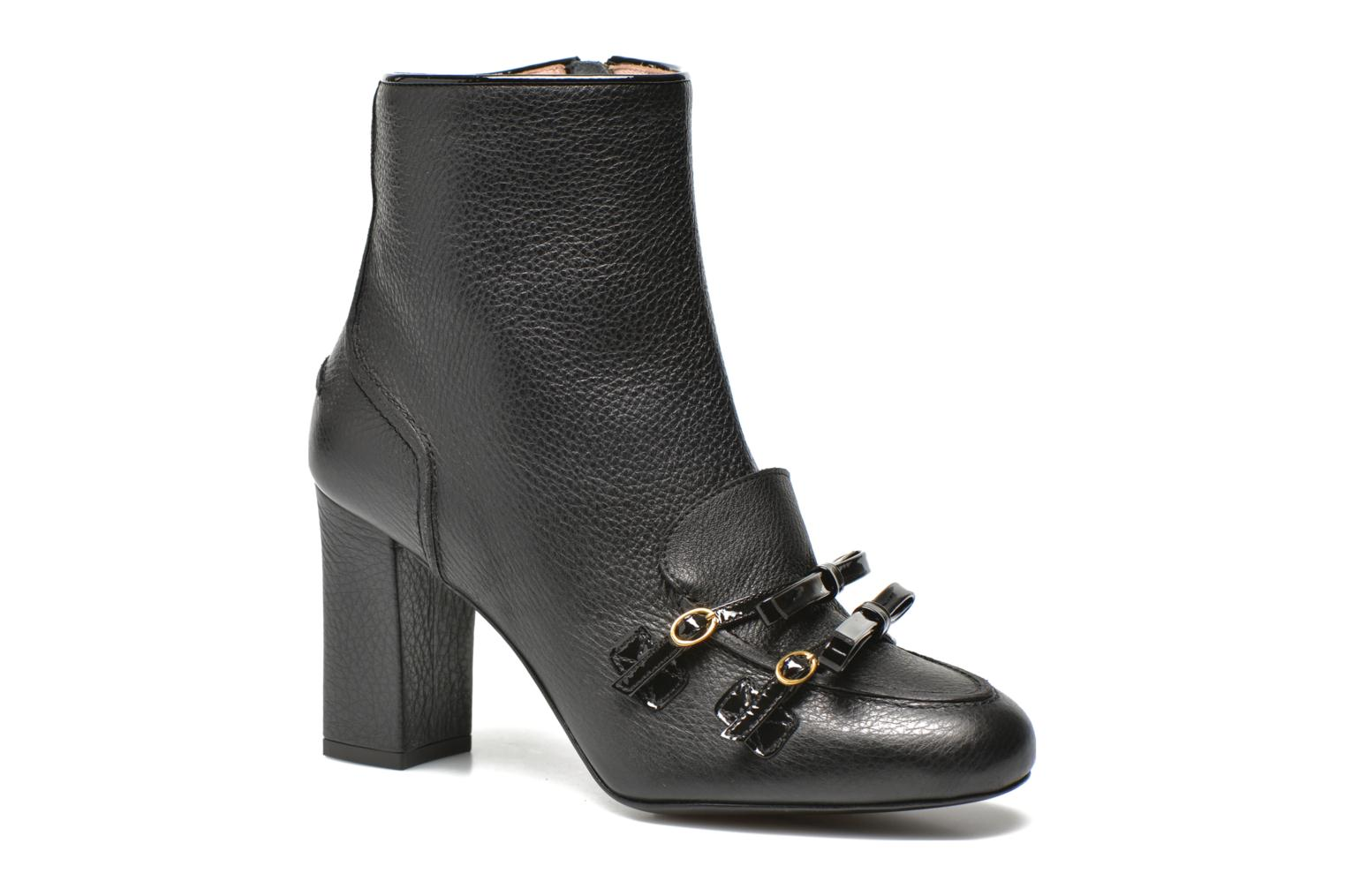 Ankle boots Boutique Moschino Bot-bot Black detailed view/ Pair view