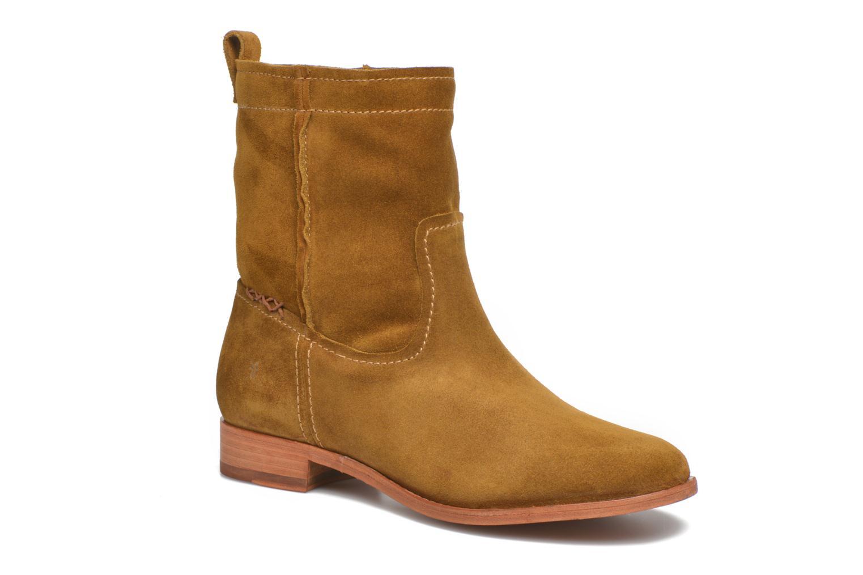 Bottines et boots Frye Cara Short Marron vue détail/paire