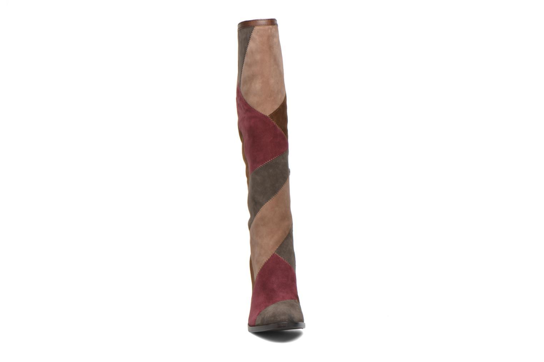 Bottes Frye Claude Patchwork Tall Multicolore vue portées chaussures